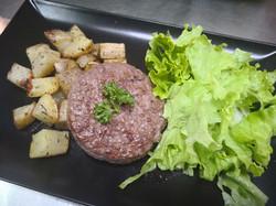 steak haché pommes de terre
