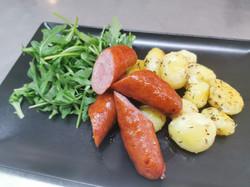 saucisses pommes de terre