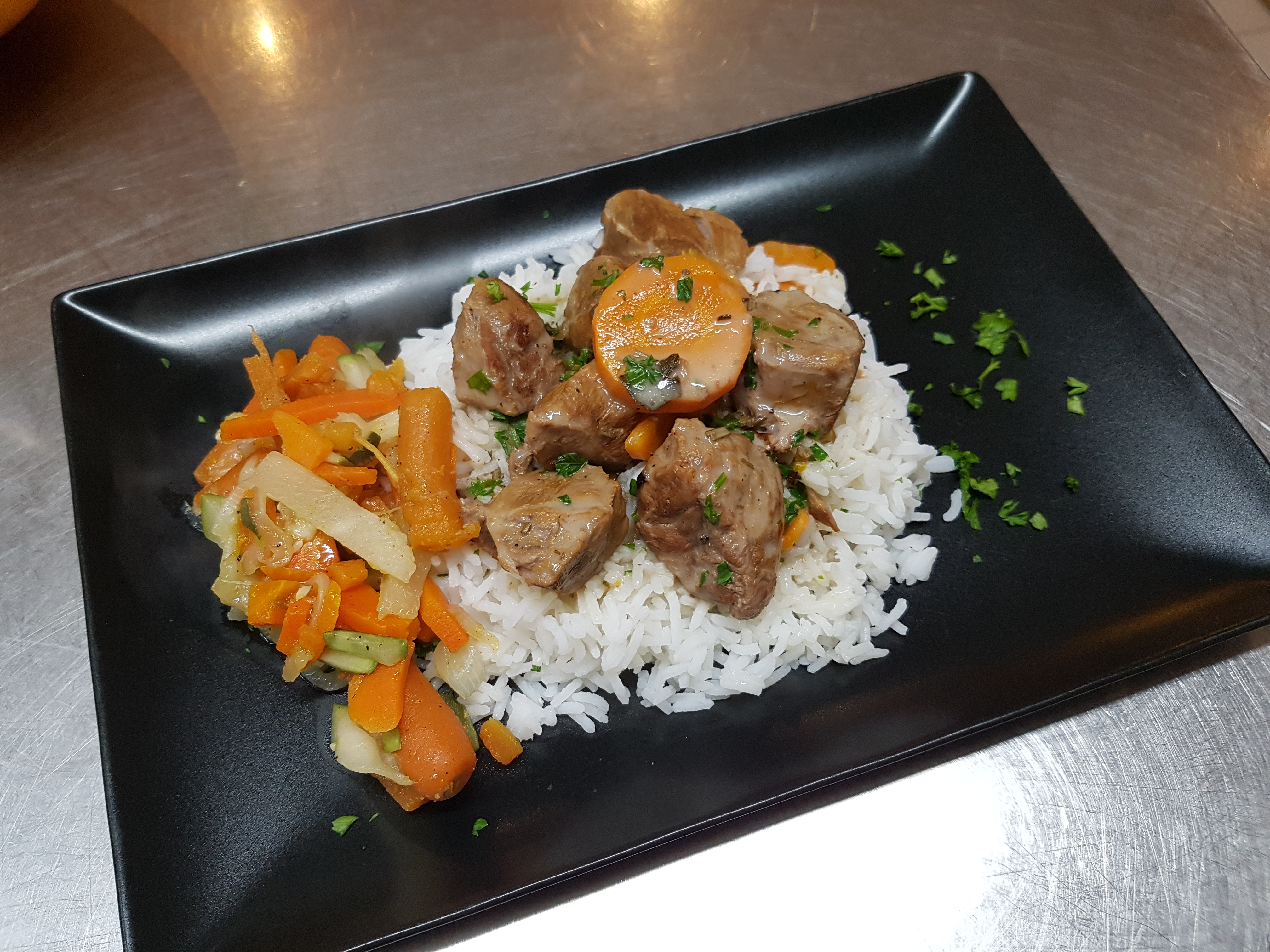 blanquette de veau riz basmati