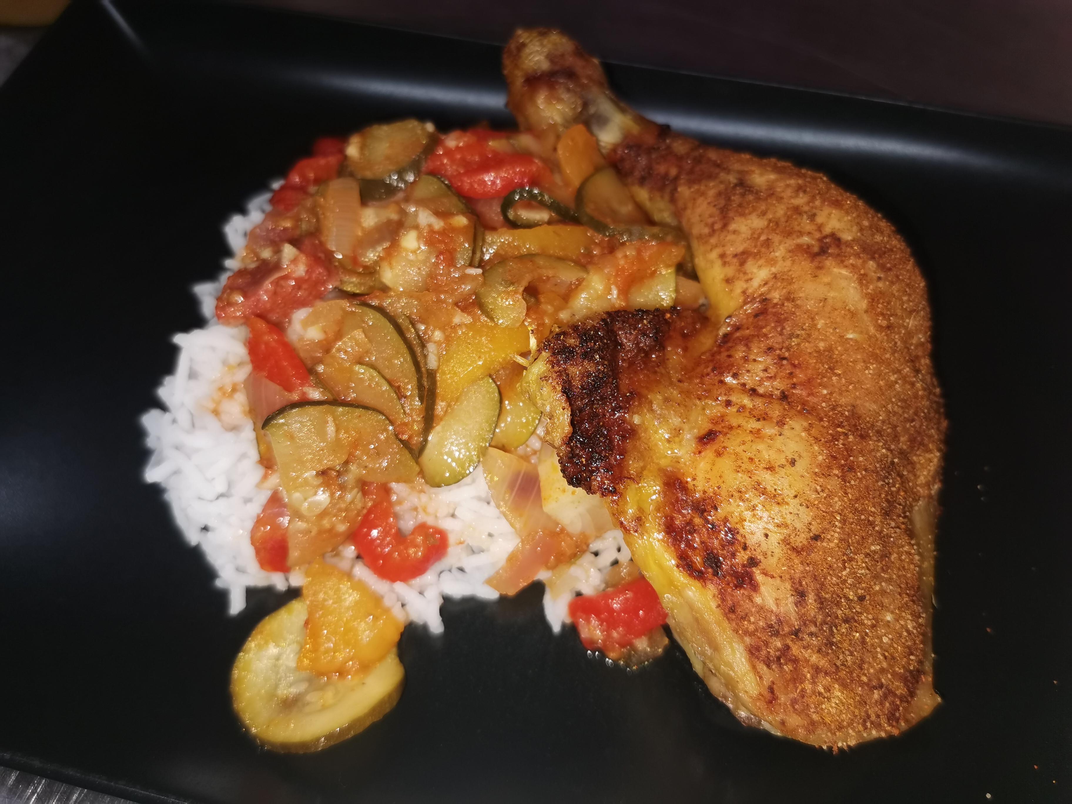 cuisse poulet à la catalane
