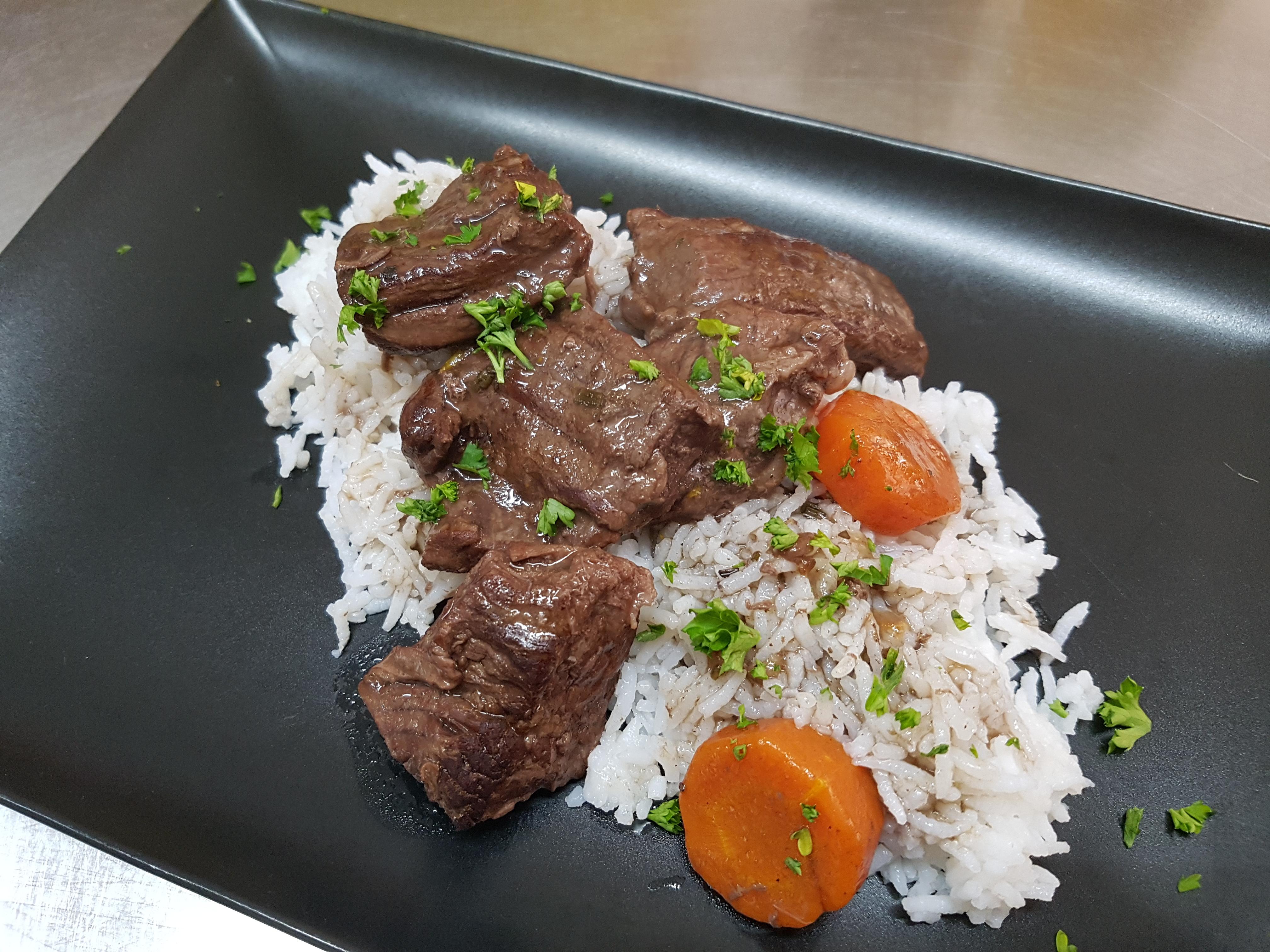daube provençale et riz