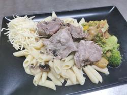 blanquette de veau pâtes et légumes