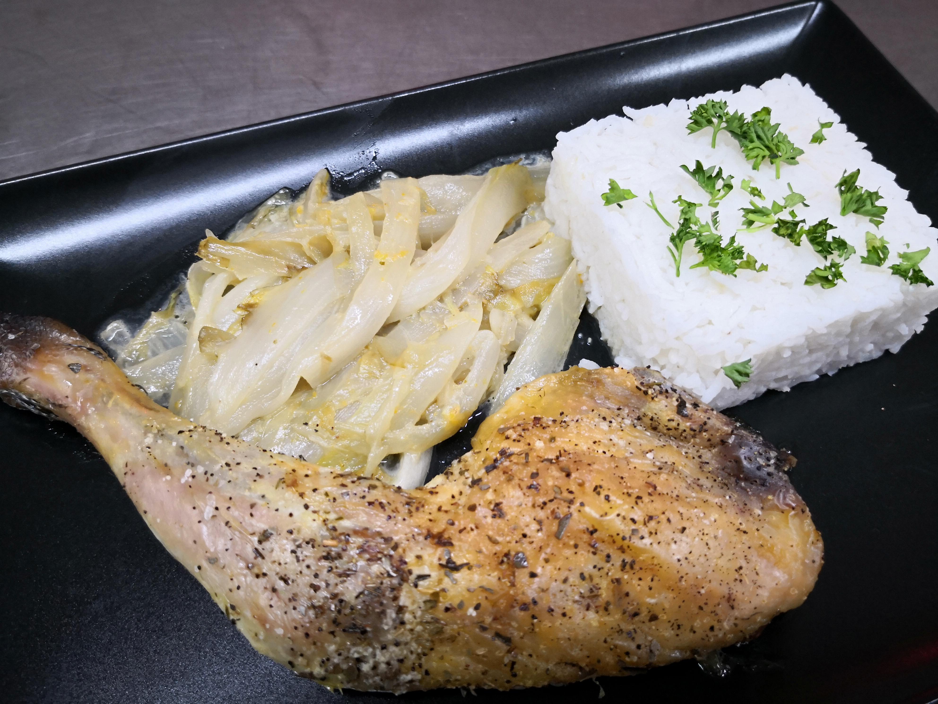 cuisse de poulet grillée