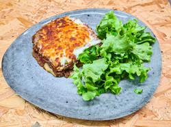 Lasagnes maison et salade verte