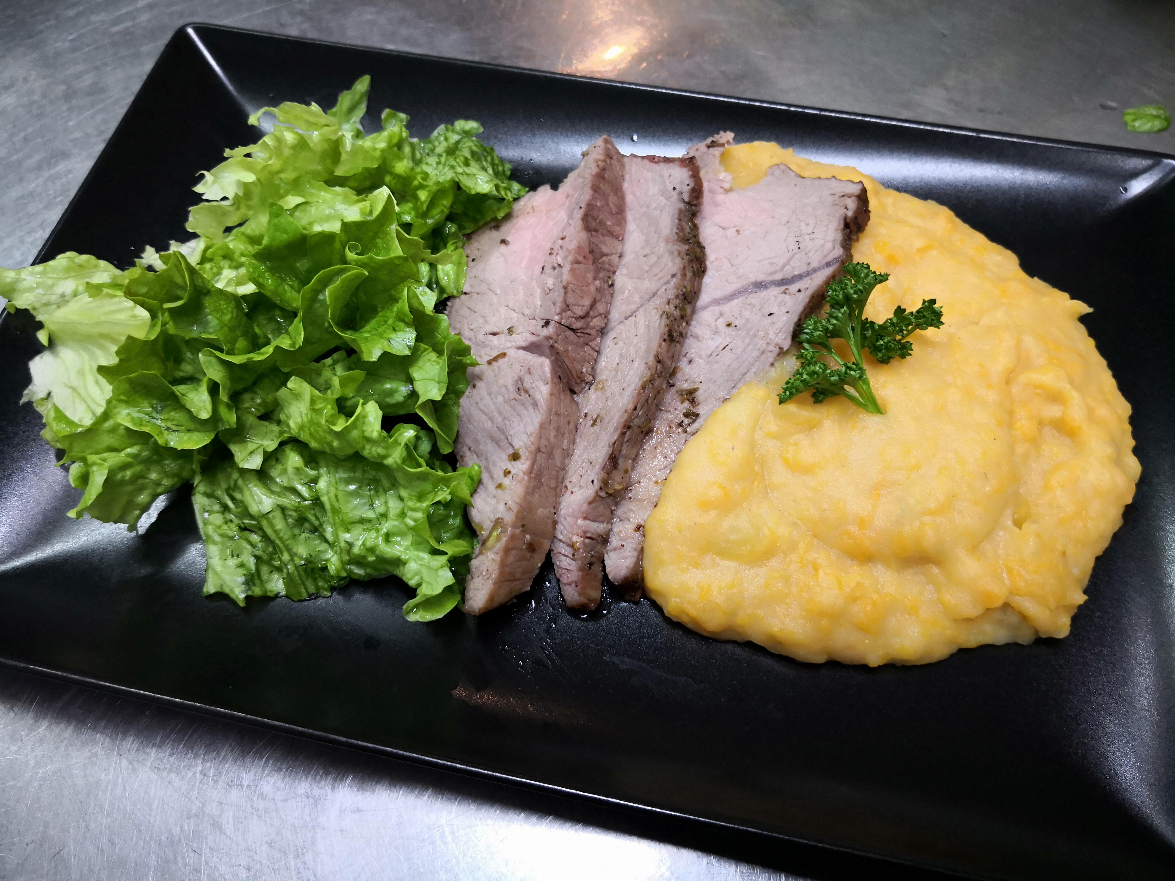 Noix de veau et purée de butternut