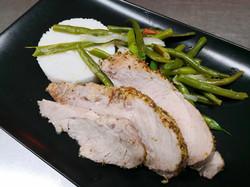 filet mignon porc haricots verts