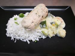 ballotine de poulet menthe persil