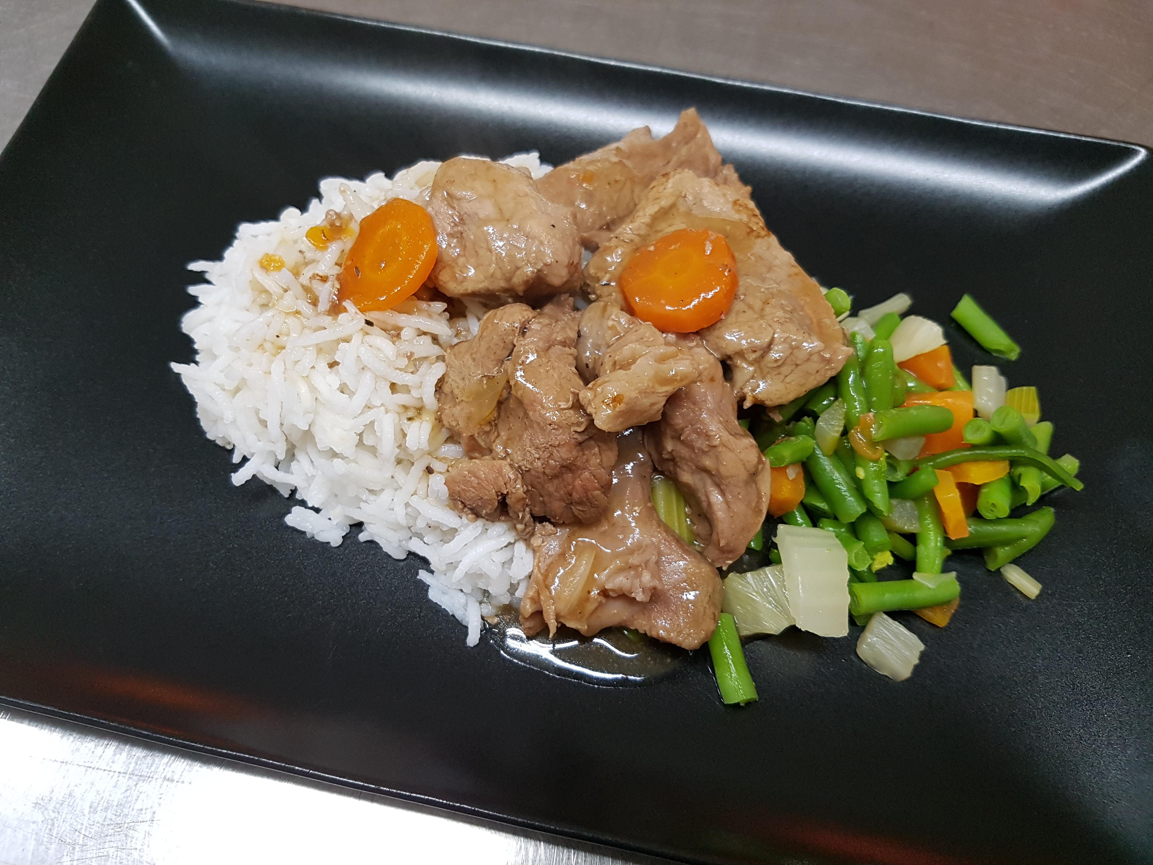 5/12 : Sauté de porc haricots plats
