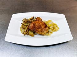 haut de cuisse de poulet, pommes de terr