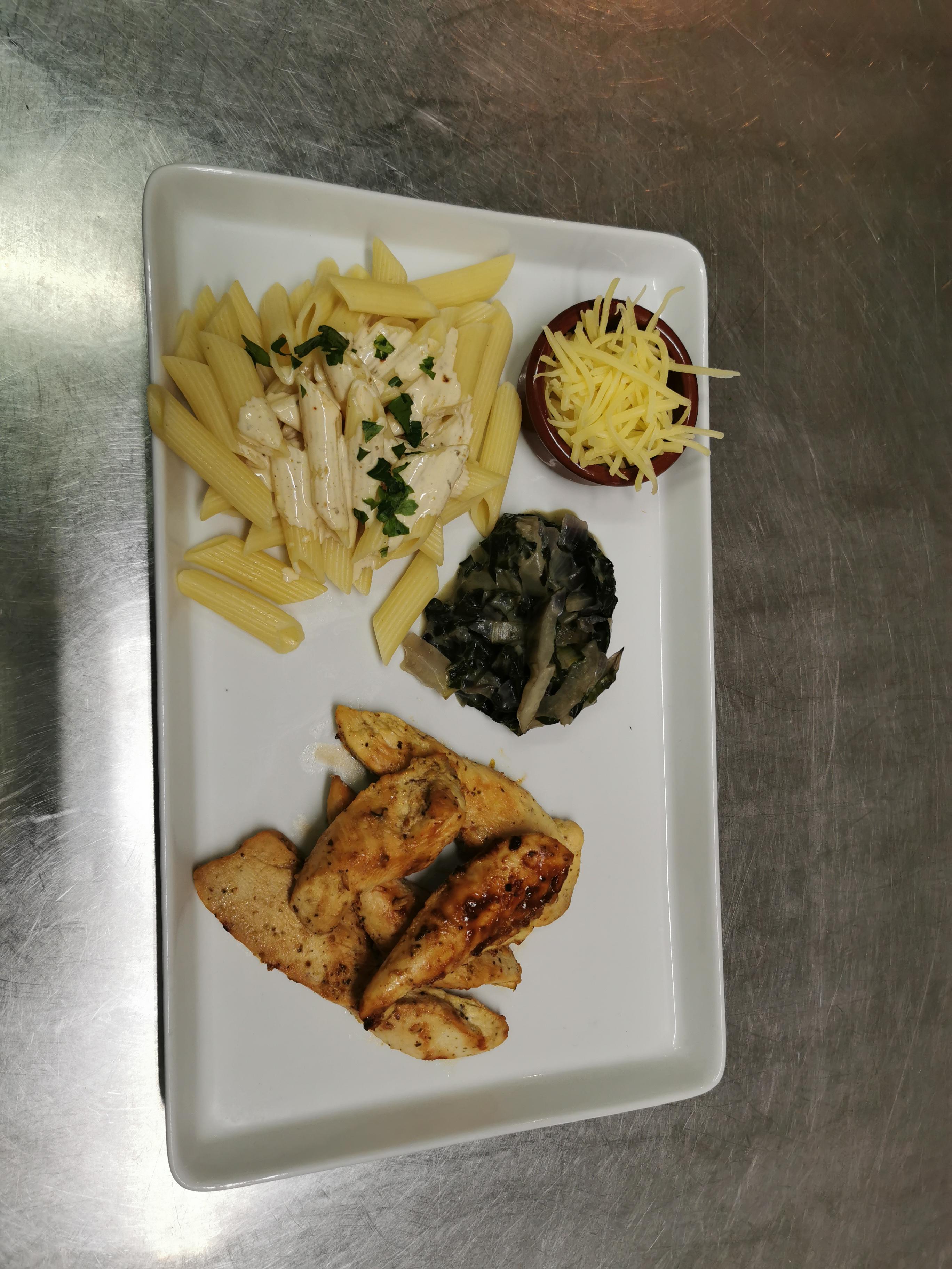 Emincés poulet marinés citron basilic