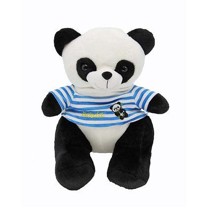 Panda Plush Animal - Blue Shirt