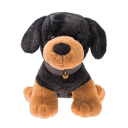 Dimpy Stuff Black Dog Stuffed Animal