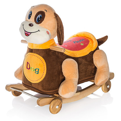 Dimpy Stuff Dog Roller Ride-on Side