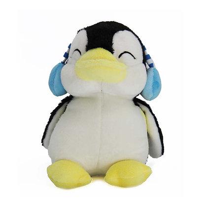Penguin with Headphones Plush Toy