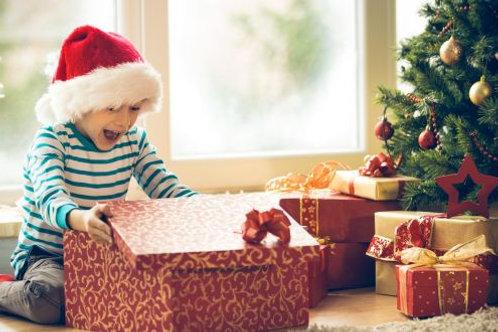 Christmas Bureau gifts and food