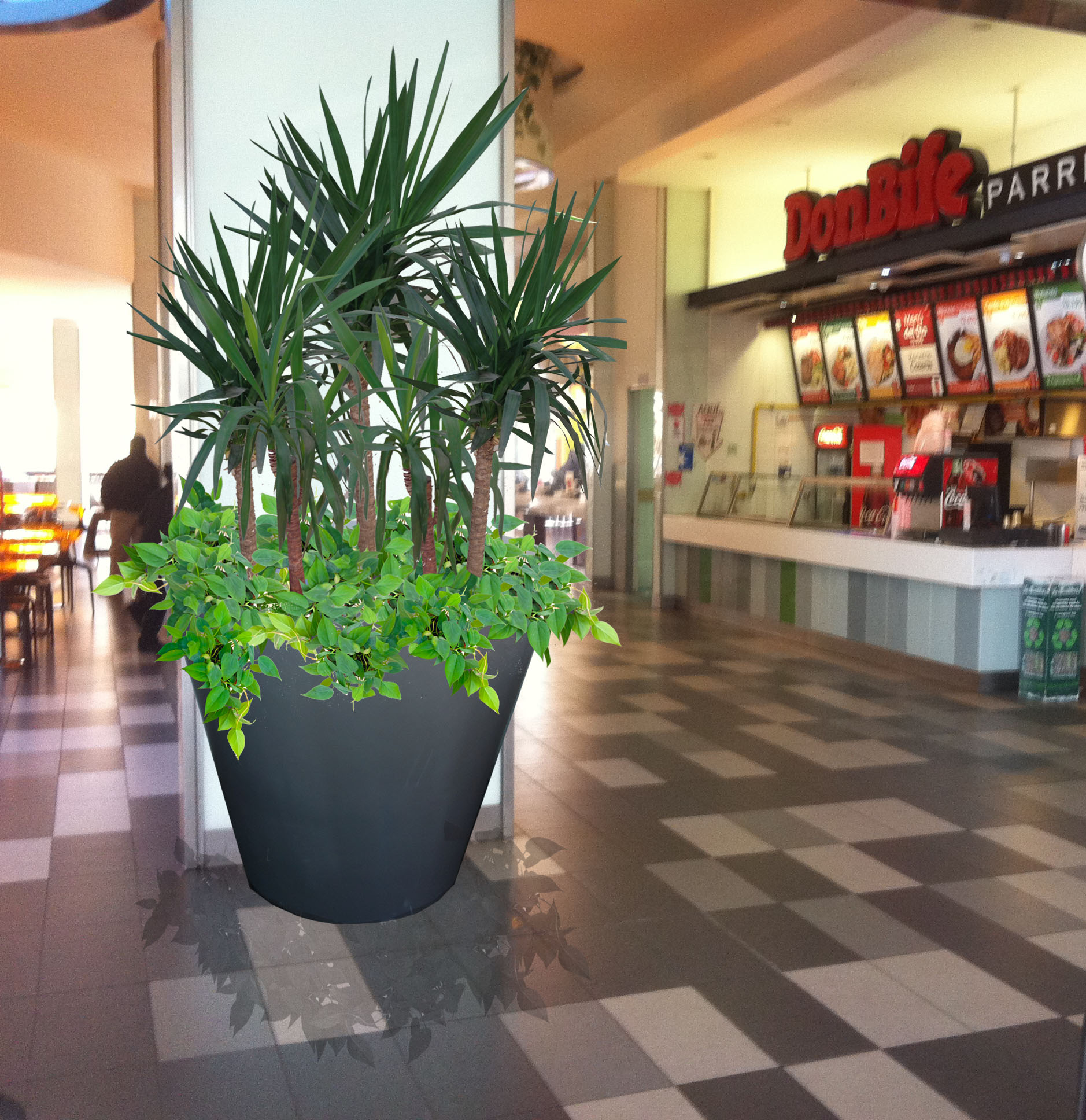 Fotomontaje Macetero Food Court