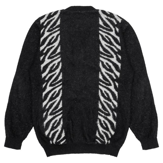 Zebra Mohair Knit Cardigan