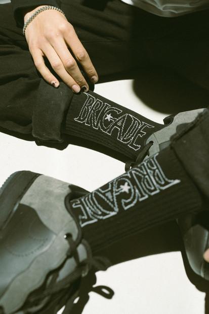 Laser Logo Crew Socks