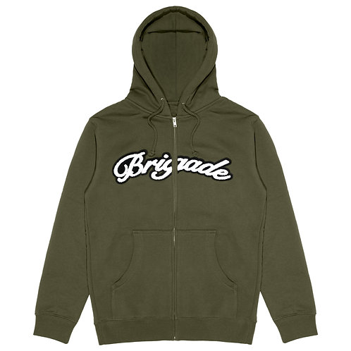 Chenille Patch Zip Hoodie
