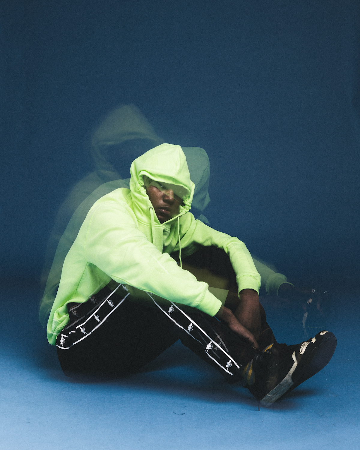 NEON GREEN SIMPLE LOGO HOODIE
