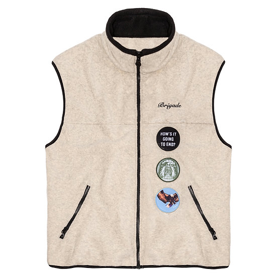 Patch Fleece Vest