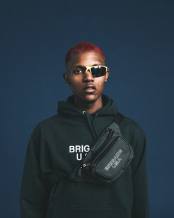 FOREST GREEN SIMPLE LOGO HOODIE
