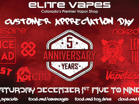 Customer appreciation and 5 year anniversary party.