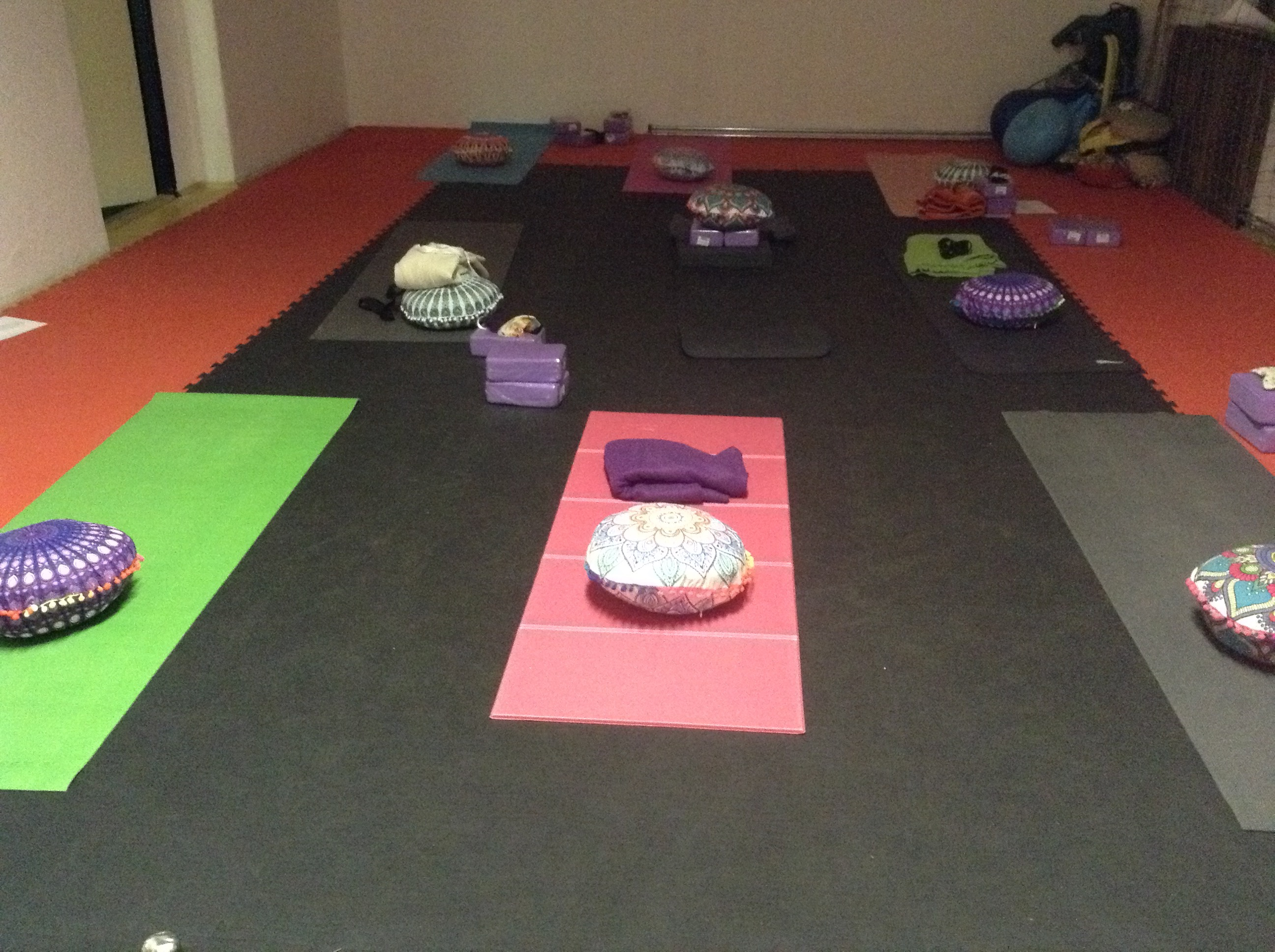 Our weekend yoga room