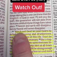 Reading scripture Luke 21:34-36