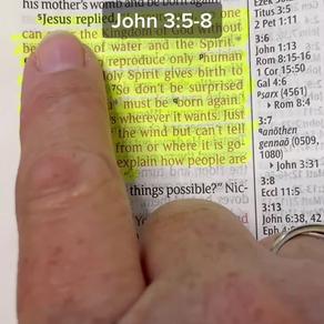 Bible reading of John 3:5-8 with Pastor Sarah