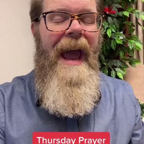 Thursday prayer with Pastor Timothy