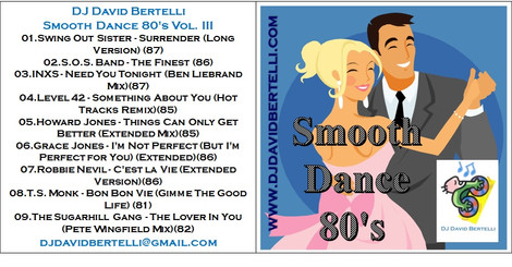 DJ David Bertelli - Smooth Dance 80's - Vol III