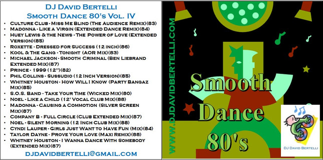 DJ David Bertelli - Smooth Dance 80's - Vol IV