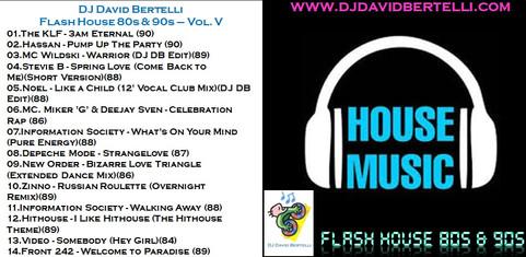 DJ David Bertelli - Flash House 80's & 90's - Vol. V