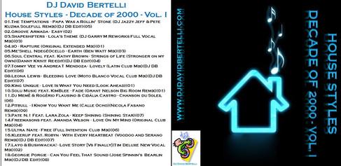 DJ David Bertelli - House Styles - Decade of 2000 - Vol. I