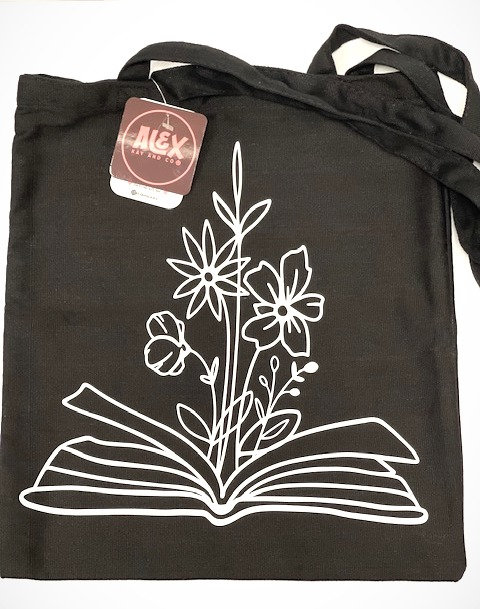 Book of Wild Flowers tote