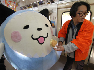 ぎょらにゃンの銚子電鉄訪問
