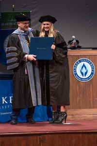 Dr. Martin Graduating From Chiropractic School