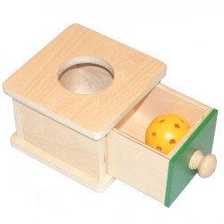 Boîte à forme avec tiroir et boule