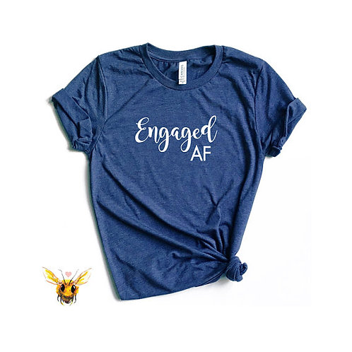 T-Shirt - Engaged AF - Navy