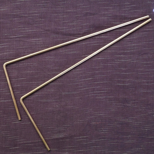 Wichelroede (per paar) messing, 28.5 x 11 cm