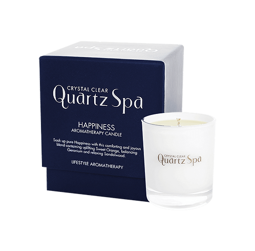HAPPINESS QUARTZ SPA AROMATHERAPY CANDLE