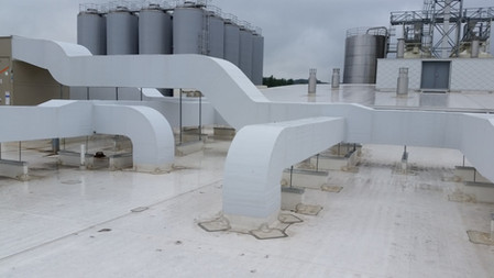 S/A & R/A Roof Duct with ISO & White Flex Clad