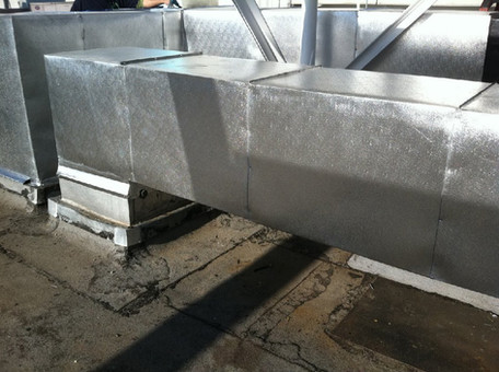 S/A & R/A Duct Insulated & Cladded with Aluminum