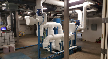 Chilled Water Skid with Armaflex Insulation & White PVC Cladding