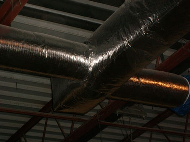 Supply Air Duct With Fiberglass Wrap