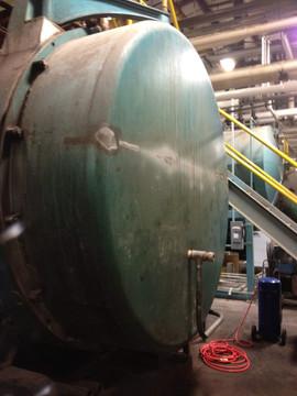 Boiler Head Before Ceramic Insulation Coating