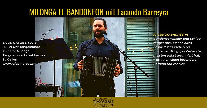 Milonga El Bandoneon mit Facundo Barreyr