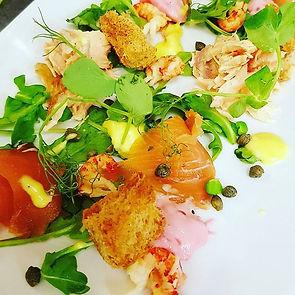 Smokes salmon & crayfish salad