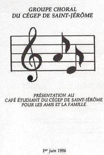 1996-1 juin Présentation au Café Étudiant